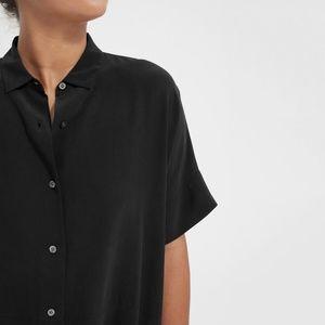Everlane 100% Silk Top, Black, Women's Size 6, New